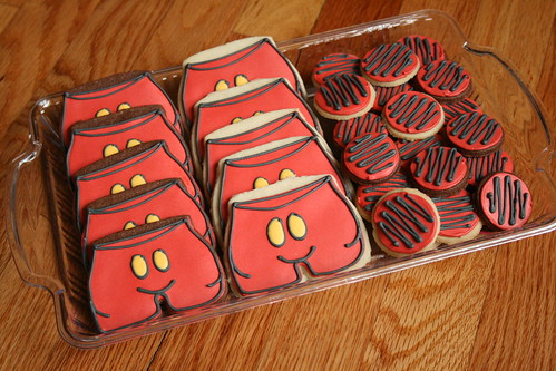 Mickey Mouse Shorts Cookies.