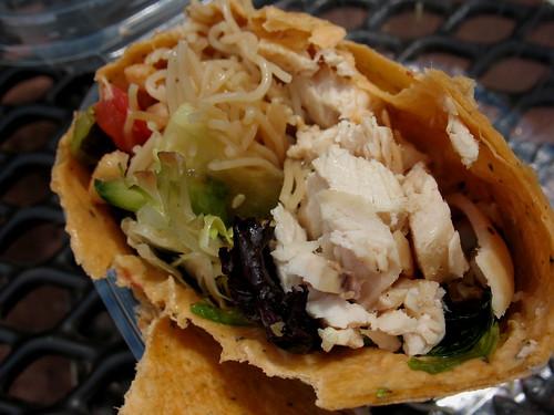 chicken thai wrap, food, chicken, wrap