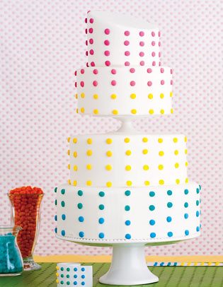 Candy Buttons Wedding Cake