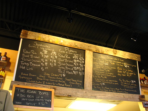 Pappy's Smokehouse: the menu
