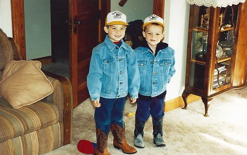 James and Brandon in '95