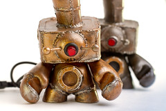 Periscope Minion (Piggyson) Tags: toys industrial nintendo vinyl steam kidrobot usb copper nes sculptures steampunk munnys munny kitbashed piggyson steampunkmunny