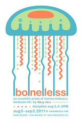 boneless poster (dross_2020) Tags: ocean life sea art nature print ross marine san francisco jellyfish market wildlife doug device silkscreen boneless rare mollusk medusae invertibrate