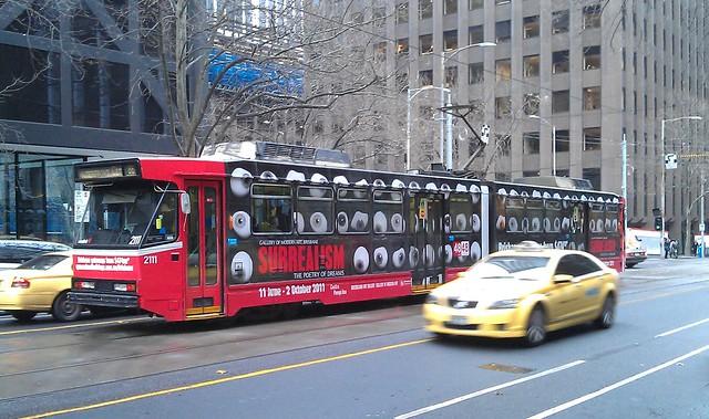 Surrealist tram