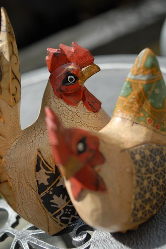 Wooden Chicken - from Bali (3)