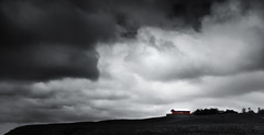 Icelandic Cloud (inhiu) Tags: sky bw cloud house nature landscape mono iceland nikon d7000 inhiu