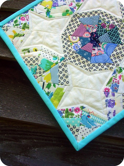 spiderweb mini quilt