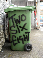 268 (chrisinplymouth) Tags: number numerals cardinalnumber wheely bin 268 cw69x cw69n wheeliebin chrisinplymouth