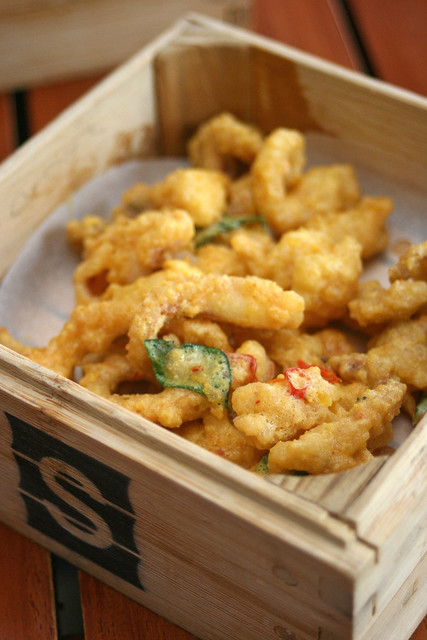 Mildly Spicy Salted Egg Squid