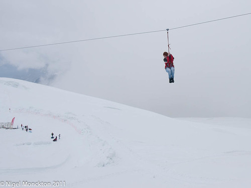 A zip-wire at the top of Europe