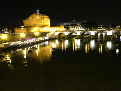 The Castle Saint'Angelo at Night (Randy Son Of Robert) Tags: vacation italy rome roma castle night lights italia castelsantangelo hadriansmausoleum