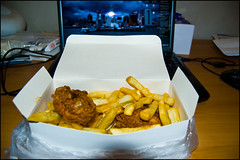 Chicken and chips from the local takeway ^^ (ichael C.) Tags: voyage new city travel food chicken restaurant vacances holidays fast away chips auckland zealand fries meal nz take takeaway everyday nourriture nouvelle stay poulet repas sjour zlande unpeudetout firtes