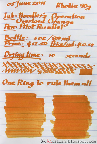 Noodler's Operation Overlord Orange Rhodia 80g