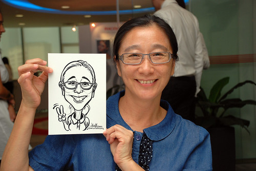 Caricature live sketching for Ricoh Roadshow - 11