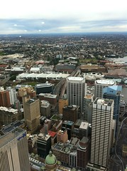 Standing at the top of Sydney Tower, stunned as always at how un-dense Sydney is (Sweet One) Tags: new city west tower skyline wales view harbour south sydney australia nsw pyrmont darling glebe