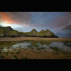 """ THREE CLIFFS BAY "" (Wiffsmiff23) Tags: reflections threecliffsbay thegower"