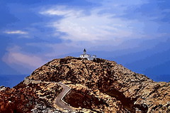 19850900 Korsika L'lle Rousse Leuchtturm Processed (2) (j.ardin) Tags: korsika corsica corse lilrousse leuchtturm beacon lighthouse phare faro felsen rock rocher roca leuchtfeuer processed