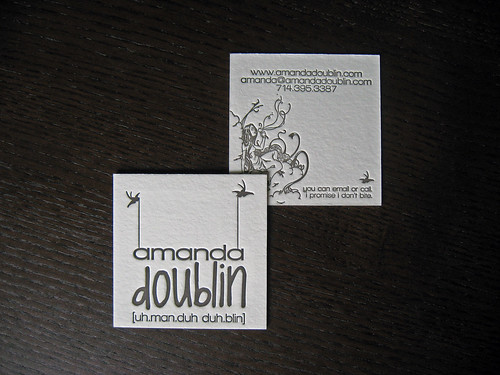 Amanda Doublin Letterpress Card