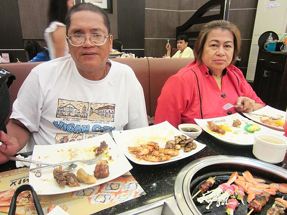 Our parents enjoying the buffet at YakiMix in Trinoma - CertifiedFoodies.com