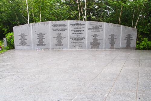 Bayswater Beach Memorial to Swissair Flight 111, Nova Scotia, Canada