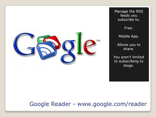 Blogging Tools - Google Reader