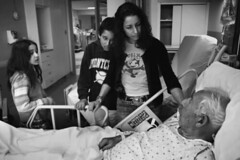 Julie Winokur with Father at Hospital