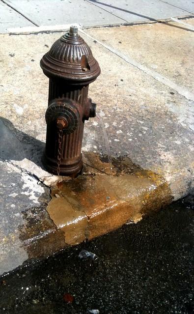 Leaky fire hydrant on Wooster st #walkingtoworktoday