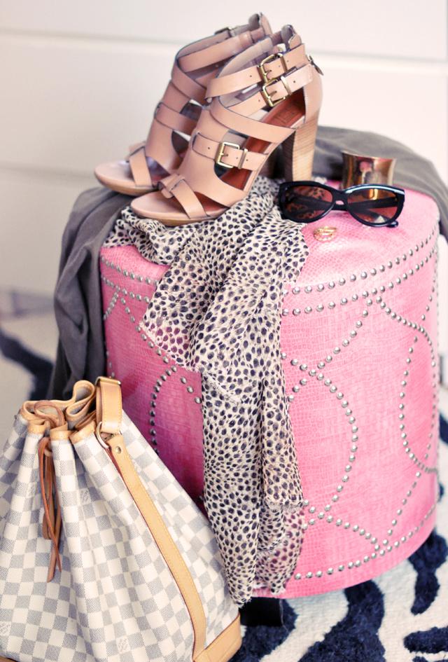 pour la victoire heels +  cat eye sunglasses + louis vuitton + leopard print