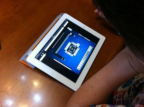 iPad2 で Flashゲーム(天鳳をやってみた)。
