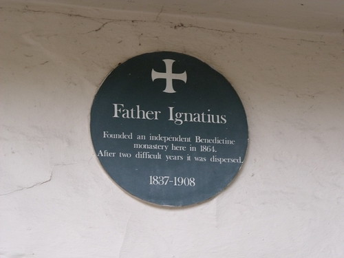 Elm Hill, Norwich - plaque of Father Ignatius