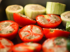 Stuffed Vegetables (blurry picture) Tags: food 50mm rikenon50mmf14 ricohxrrikenonf14