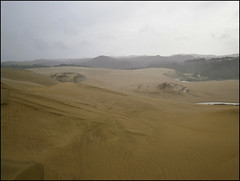 The Te Paki Dunes under the rain and the wind !