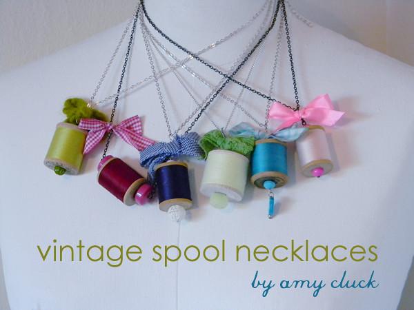 vintage spool necklaces