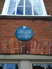Photo of Great North Road and The White Lion, Stevenage blue plaque