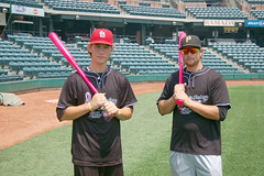 Team Hershey with their hot pink bats