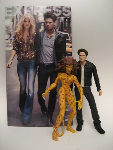 Ptw Action Figures reenact an Express (Mall) direct mail ad. #twilight #edward #cheetah