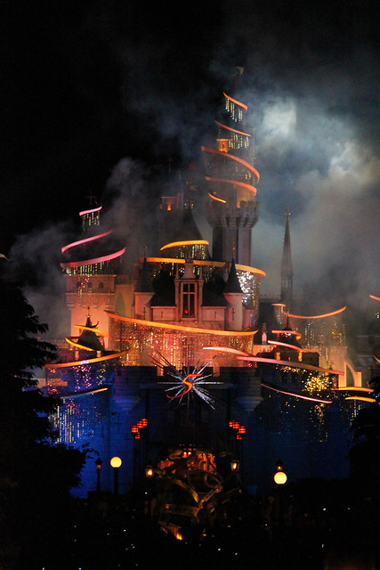 Tinker Bell Castle Illumination