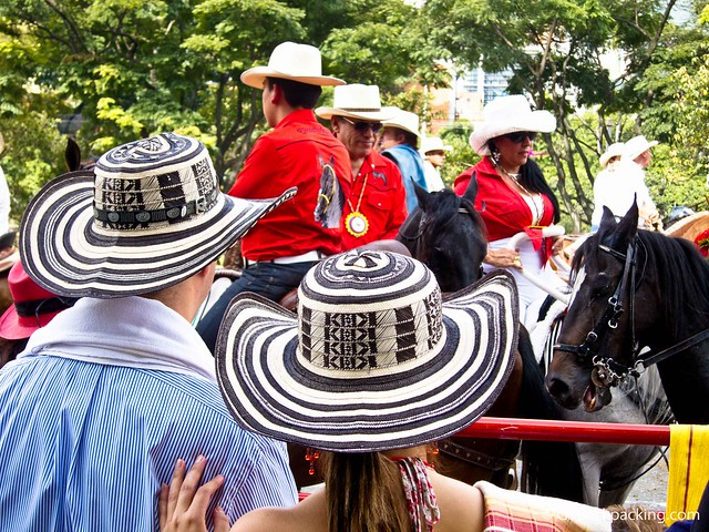 The traditional vueltiao hats are a national symbol of Colombia