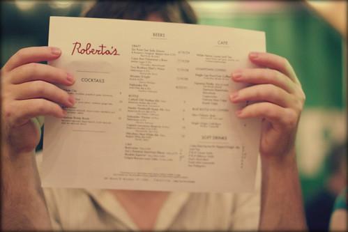 robertas menu