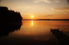 Mercer area lake at sunset (chumlee10) Tags: county sunset sun lake wisconsin dock iron niceshot mercer wi wow1 mygearandme mygearandmepremium mygearandmebronze mygearandmesilver mygearandmegold
