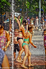 in the fountain (pamela hope photography) Tags: summer water fountain laughing children fun heatwave splashing