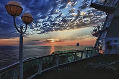 "Rumbo Barcelona (osolev) Tags: cruise sunset sea sky sun mer sol clouds photoshop atardecer boat mar barco ship dusk horizon ps ciel nave cielo nubes 24mm nuages angular nao ocaso hdr horizonte buque sovereign nwn crucero proa pullmantur ltytrx5 ltytr1 a3b osolev ""flickraward"" twiligths brisasdelmediterraneo ""flickraward5"""