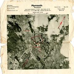 Crownhill: March 1941 (Plymouth History) Tags: cornwall map aircraft nazi plymouth aerial devon photograph german target bomb blitz bombing reich devonport secondworldwar stonehouse luftwaffe plymstock saltash torpoint