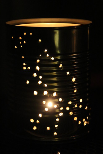 Bird tin lantern