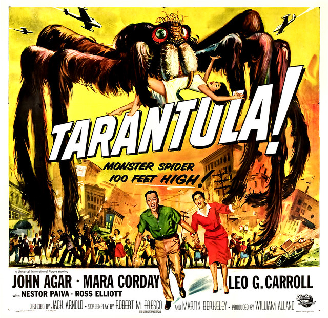 Reynold Brown - Tarantula (Universal International, 1955) half sheet