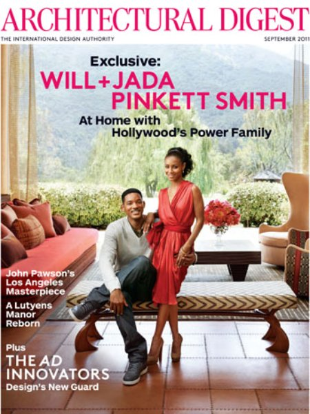 Will and Jada Pinkett Smith Architectural Digest September 2011