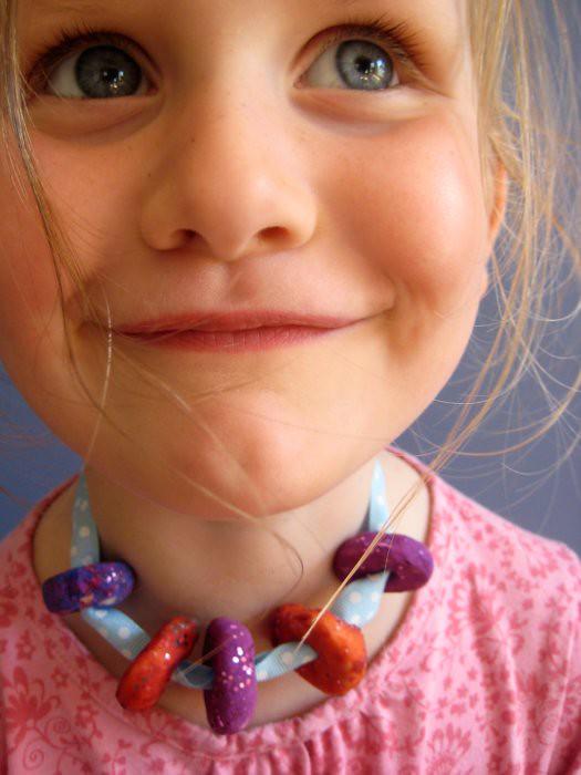 salt dough beads necklace