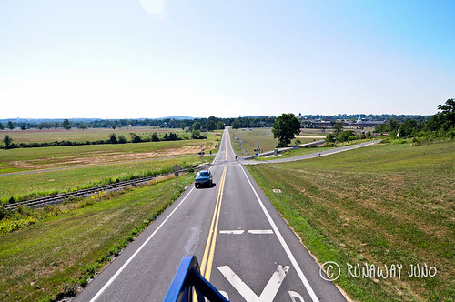 Gettysburg Battlefield from audio tour bus