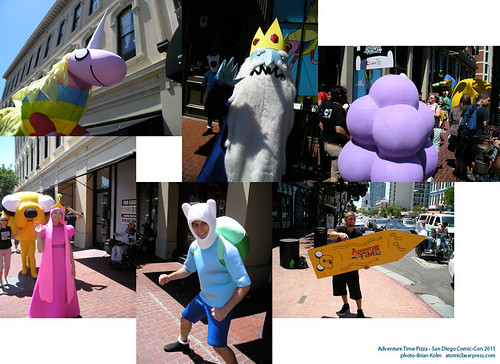 Adventure Time pizza durring the San Diego Comic-Con 2011