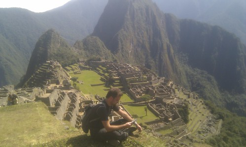 Reading at Machu Picchu